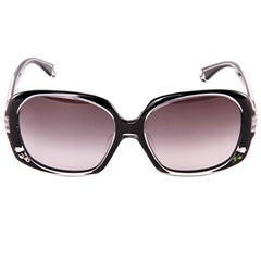 New Fendi Black with Rose Inlaid Sunglasses With Case