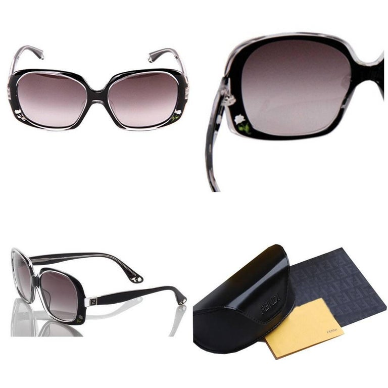 Fendi Rose Sunglasses Brand New *Stunning Inlaid Rose Sunglasses * Black Front & Interior * Inlaid Rose Detail on the Front & Sides * Seen on MANY Stars * FF Details on Temples * Made in Italy * 100% UVA/UVB Protection * Comes with Case & Cleaning