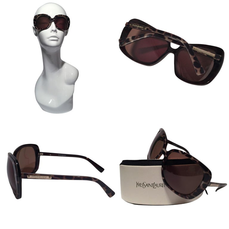 Yves Saint Laurent Sunglasses Brand New *Stunning in Animal Print  * Brown Lenses * Super Lightweight * Gold Hardware * Made in Italy * 100% UVA/UVB Protection * Comes with Case and Tag