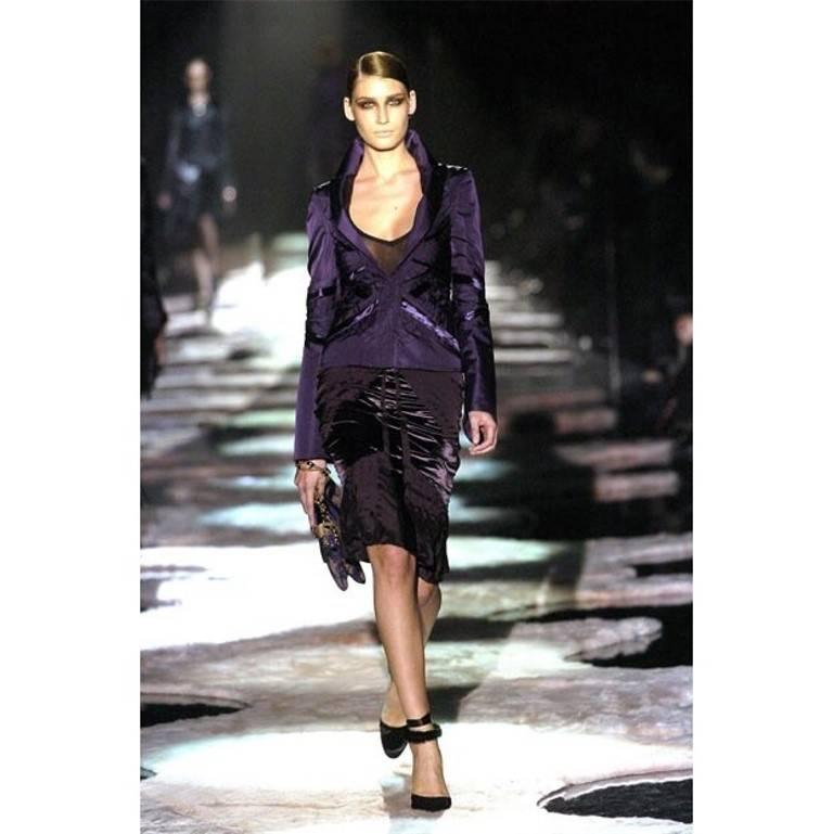 New Tom Ford For Gucci Black Velvet Satin Final Collection Heels Sz 10 For Sale 6