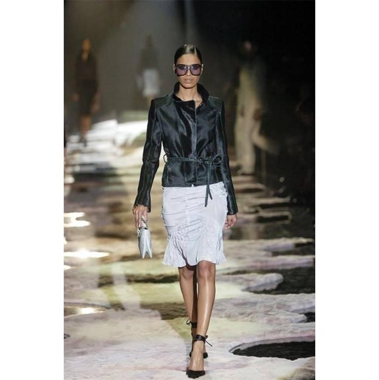 New Tom Ford For Gucci Black Velvet Satin Final Collection Heels Sz 10 For Sale 9