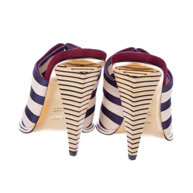 Fendi 2012 Runway Ad Heels Mules For Sale 1