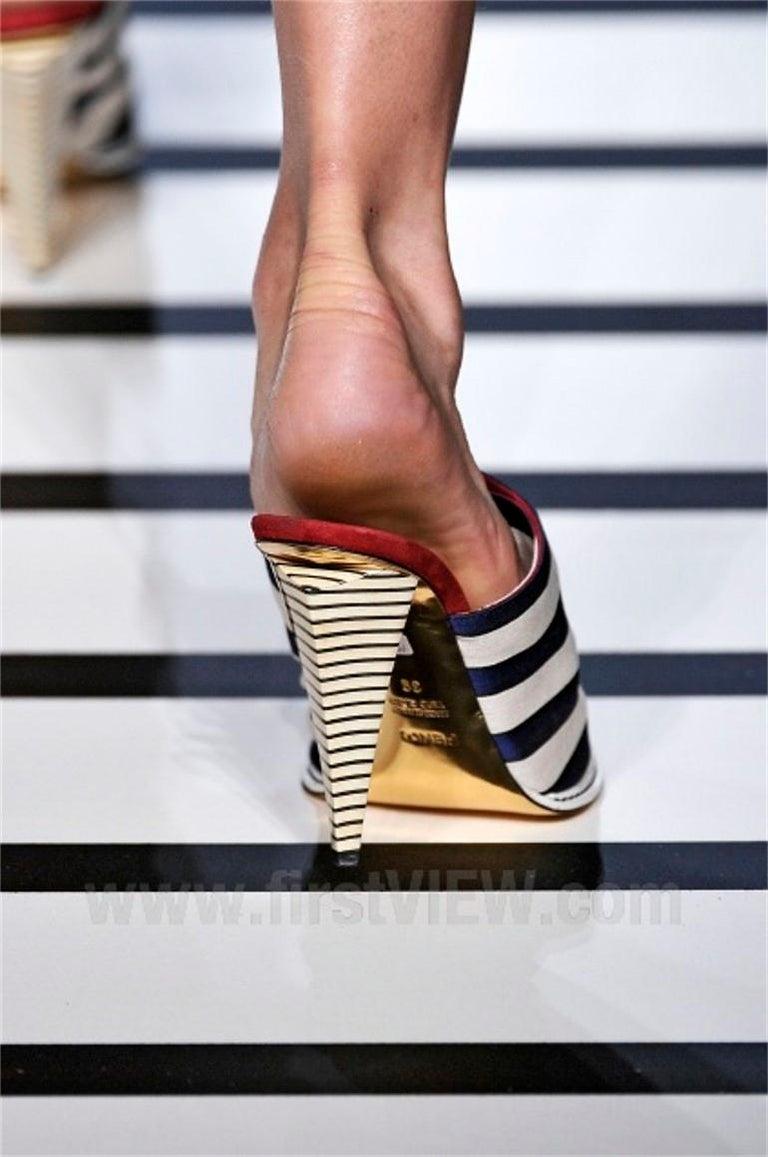 Fendi 2012 Runway Ad Heels Mules For Sale 8