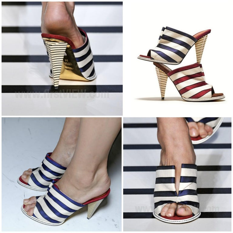 Fendi 2012 Runway Ad Heels Mules For Sale 11