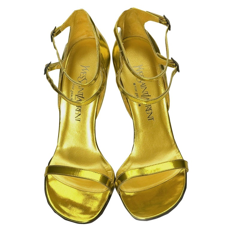New Vintage Tom Ford for Yves Saint Laurent YSL Collectible Heels Sz 38.5 For Sale 4