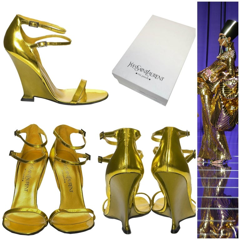 Yves Saint Laurent Heels Brand New Size: 38.5 * Tom Ford Era Final Collection Heels * This was his last collection for Yves Saint Laurent. He was inspired by the Chinese Collection of 1977.   This Collection was Featured at the Metropolitan Museum