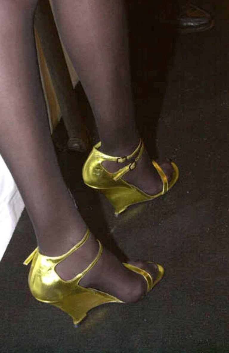 Women's New Vintage Tom Ford for Yves Saint Laurent YSL Collectible Heels Sz 38.5 For Sale