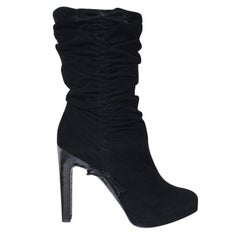 Tom Ford For Gucci Final Collection Python Suede Boots