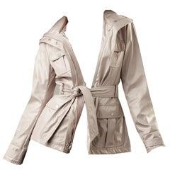 New Kenneth Cole Beige Coat Water Resistant Wind Breaker Size: XS