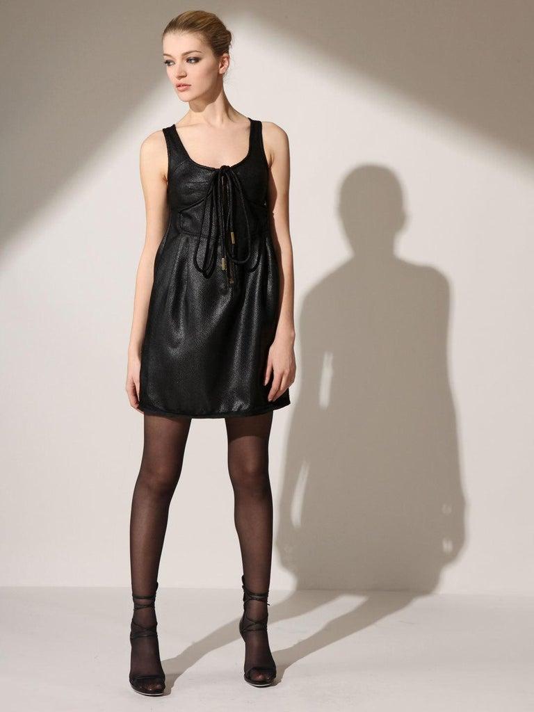 Black New Lerario Beatriz NYC Cocktail Dress Sz 6 For Sale