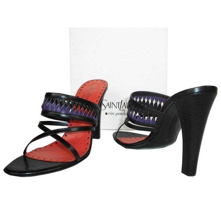 New Tom Ford for Yves Saint Laurent YSL Leather Heels Sz 39.5 For Sale 2