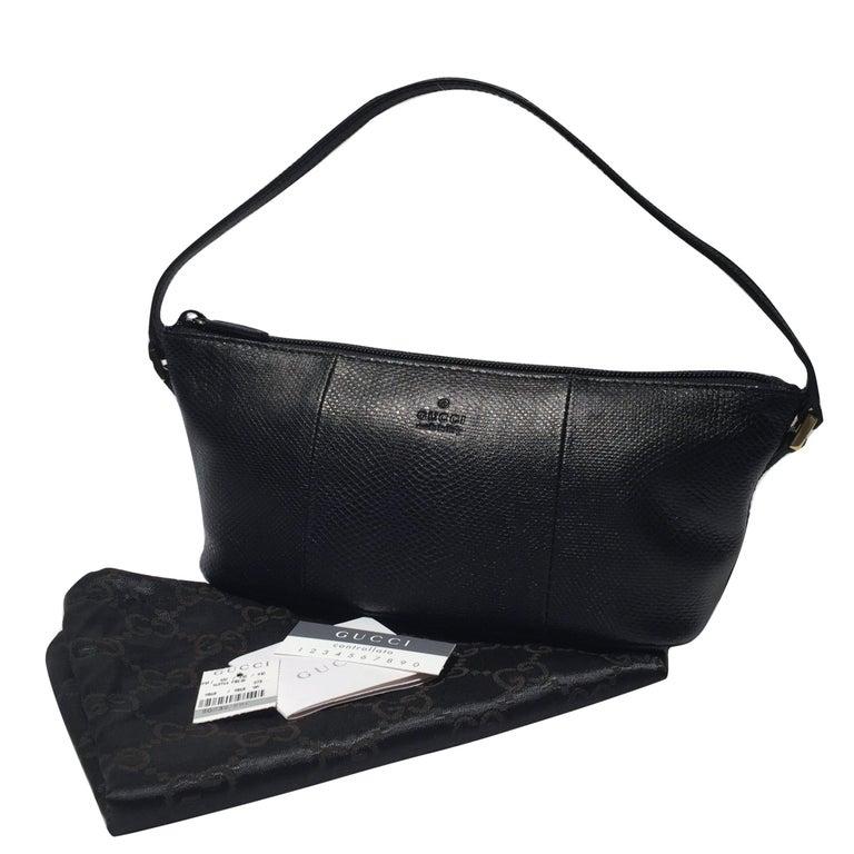Gucci Lizard Pochette Baguette Bag