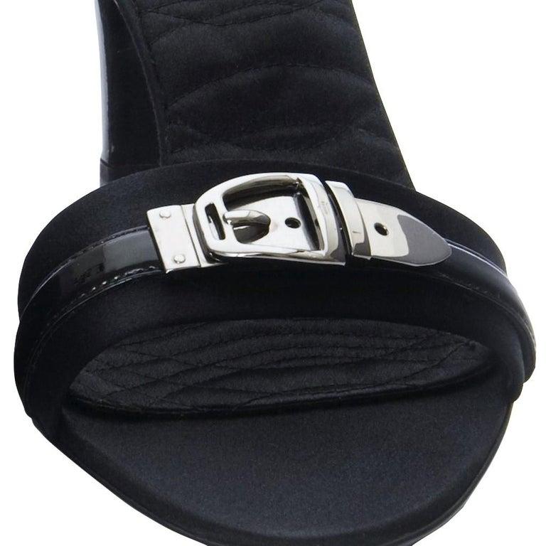 New Gucci Quilted Satin Buckle Horsebit Heels Sz 9.5 In New Condition For Sale In Leesburg, VA