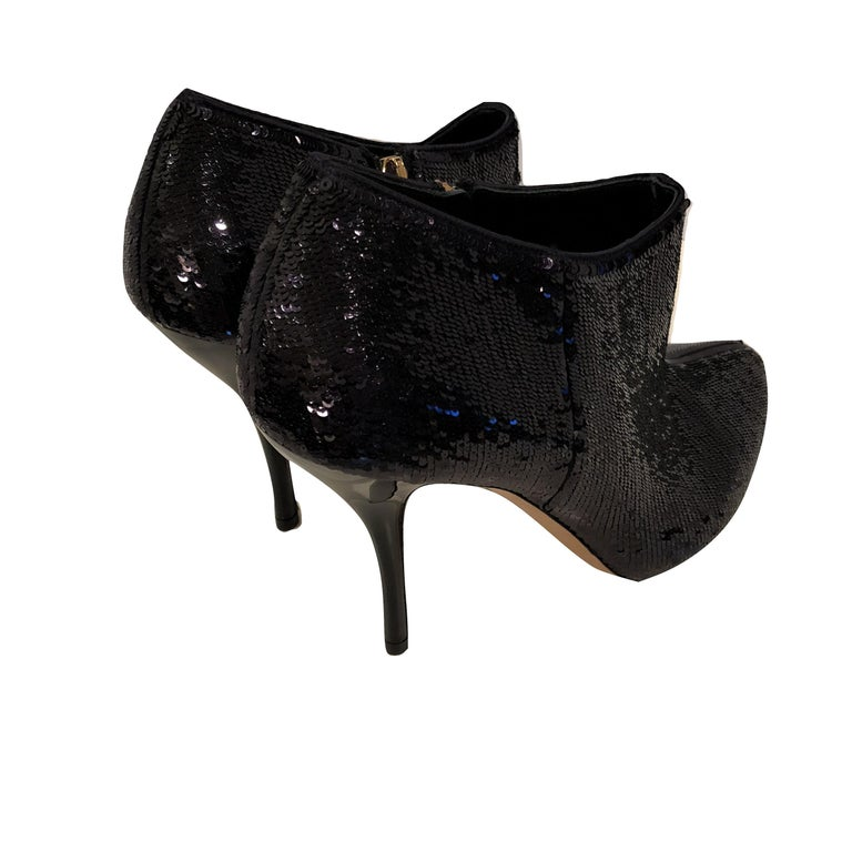 New Gucci Sequin Evening Boots Booties Heels  For Sale 4
