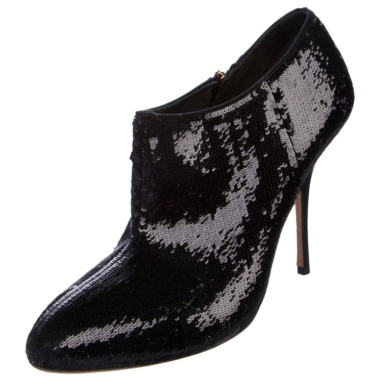New Gucci Sequin Evening Boots Booties Heels  For Sale 1