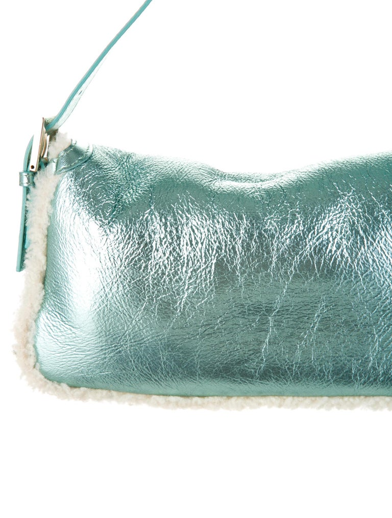 New Fendi Shearling Baguette Bag Featured in 15th Anniversary Book For Sale 4