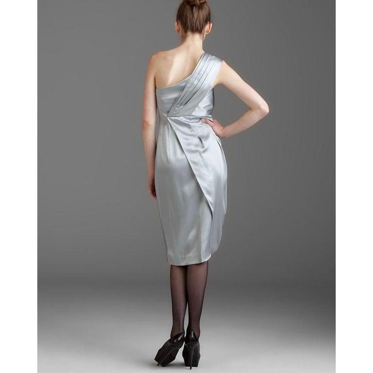 Women's New Catherine Malandrino Black Label Silk Cocktail Dress Sz 38 For Sale