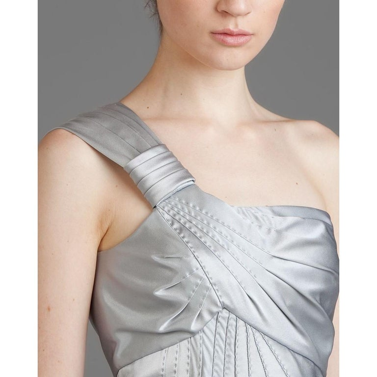 New Catherine Malandrino Black Label Silk Cocktail Dress Sz 38 For Sale 1