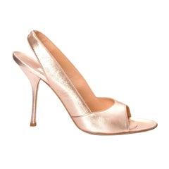 9c1c4405be New Edmundo Castillo Metallic Rose Gold Soft Napa Leather Heels.  HomeFashionClothingShoes. Gianvito Rossi New Gold Metallic Mules Evening ...