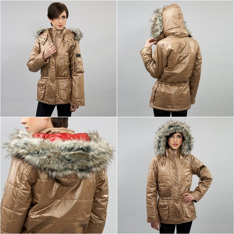 Da-Nang Puffer Jacket Brand New w/ Tags * Gold Parka Puffer * Detachable Faux Fur Trim * Removable Hood * Zipper and Button Closure * Multiple Front Pockets  * Cargo Pockets at Left Sleeve * Fabric Content: 60% Nylon , 40% Polyester, 100% Pollyfill