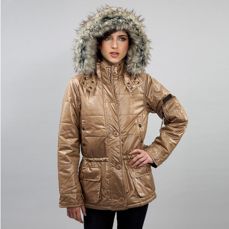New Da-Nang Detachable Hood Puffer Jacket In New Condition For Sale In Leesburg, VA