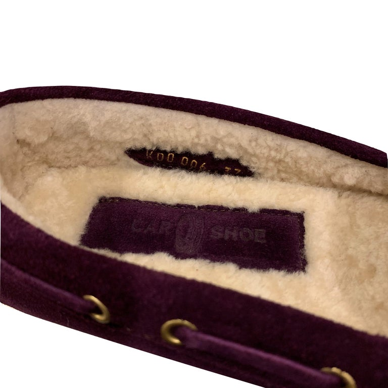 New The Original Prada Car Shoe Flat Moccasin Shearling House Driving  Sz 36 In New Condition For Sale In Leesburg, VA