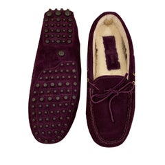 New The Original Prada Car Shoe Flat Moccasin Shearling House Driving  Sz 38