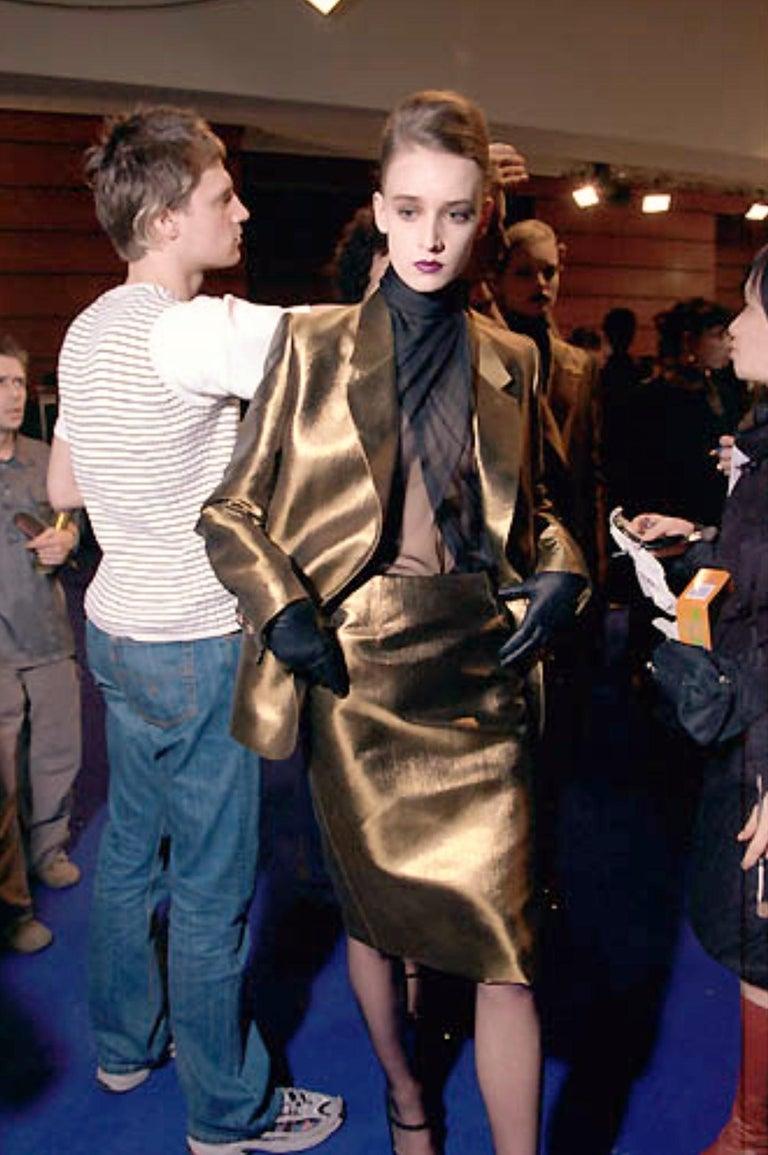 New Vintage Yves Saint Laurent YSL F/W 1998 Blazer Jacket Designer Alber Elbaz  5