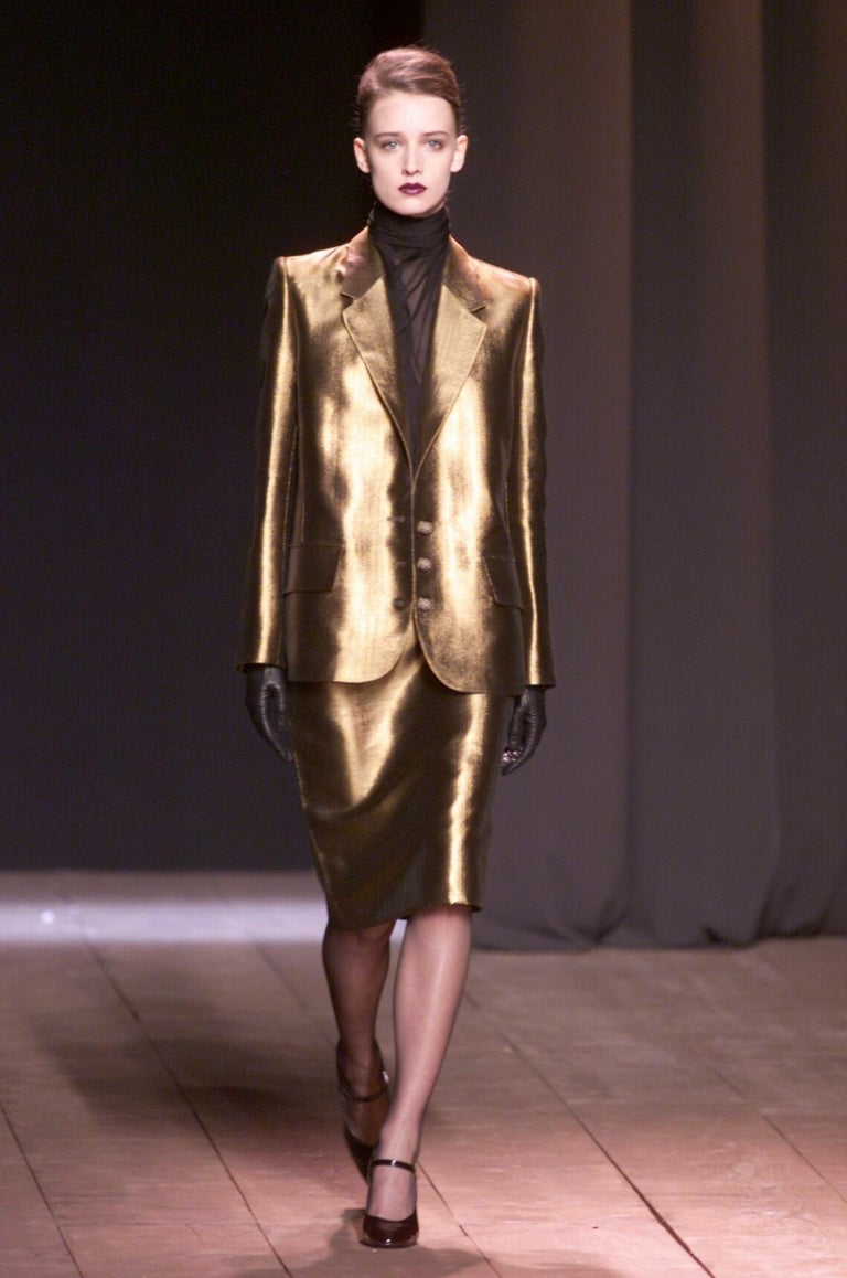 New Vintage Yves Saint Laurent YSL F/W 1998 Blazer Jacket Designer Alber Elbaz  7