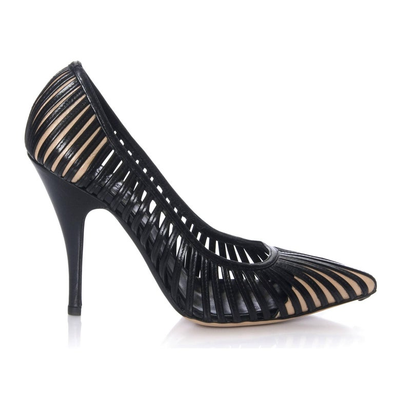 Black Rare Tom Ford for Gucci Kate Moss Cage Heels Pumps Sz 9.5 For Sale