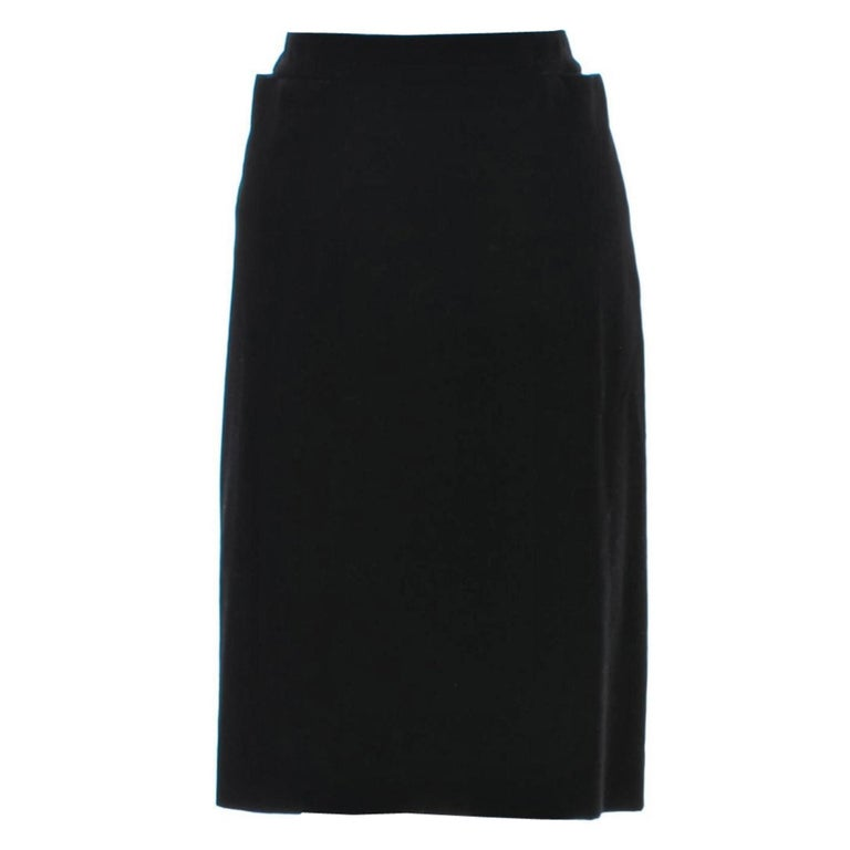 Tom Ford For Yves Saint Laurent Size: S/M  US 4/6, FR40  Tom Ford's Coveted 2001 Winter Collection Runway Skirt Many models wore this velvet skirt for the show Impossible to Find New! Brand New Without Tags Black Velvet Zipper and Hook & Eye closure