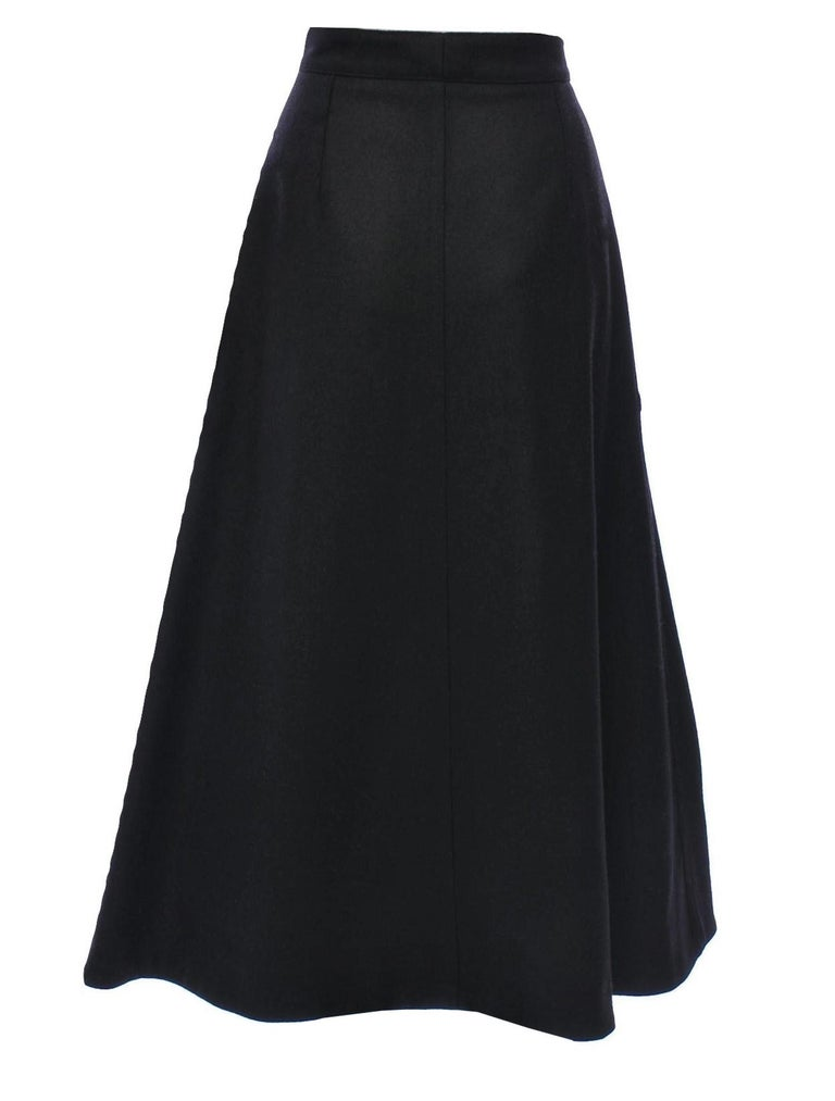 Women's New Yves Saint Laurent YSL F/W 2008 Runway Wool Skirt Sz Fr42 For Sale