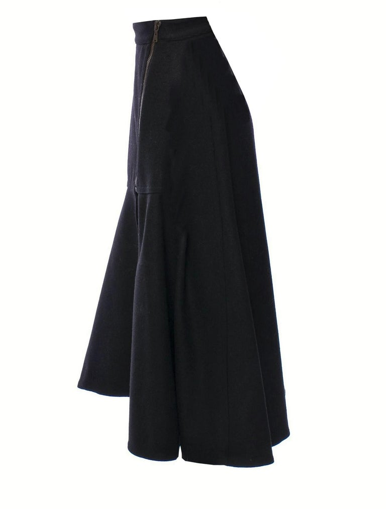 New Yves Saint Laurent YSL F/W 2008 Runway Wool Skirt Sz Fr42 For Sale 3