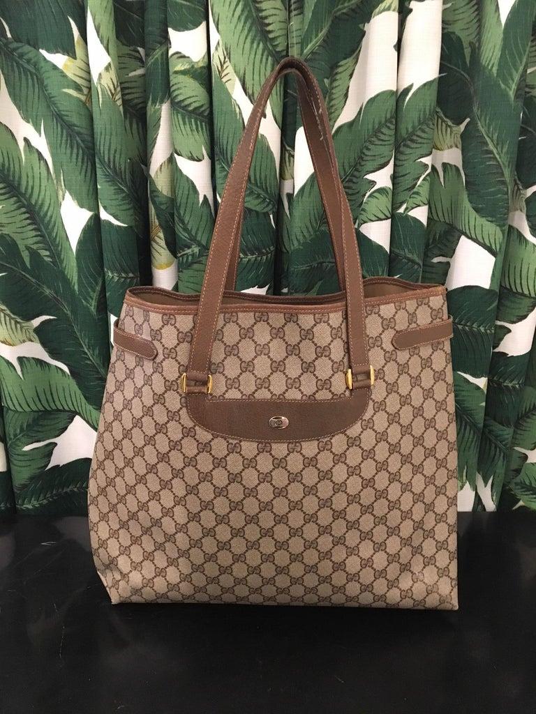 Vintage Gucci classic handbag tote with