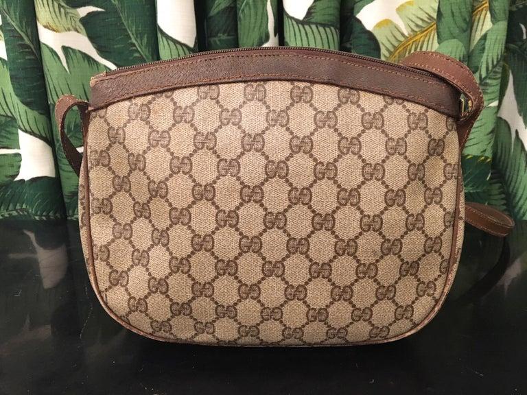 Brown Vintage Gucci 1980s Signature