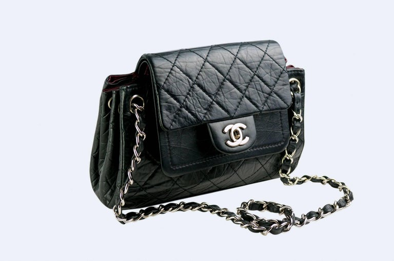 Chanel Limited Edition Distressed Calfskin Classic Double Flap Bag For Sale 2