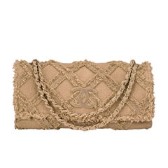 Chanel Crochet Tweed Extra Large Flap Bag