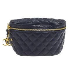 Chanel Quilted Lambskin Vintage Fanny Pack Waist Belt Bum Bag, 1990s