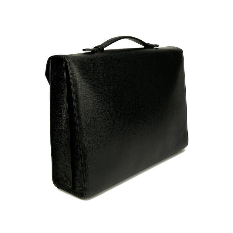 Chanel Rare Vintage Caviar CC Flap Executive Briefcase Portfolio Laptop Bag  For Sale 1