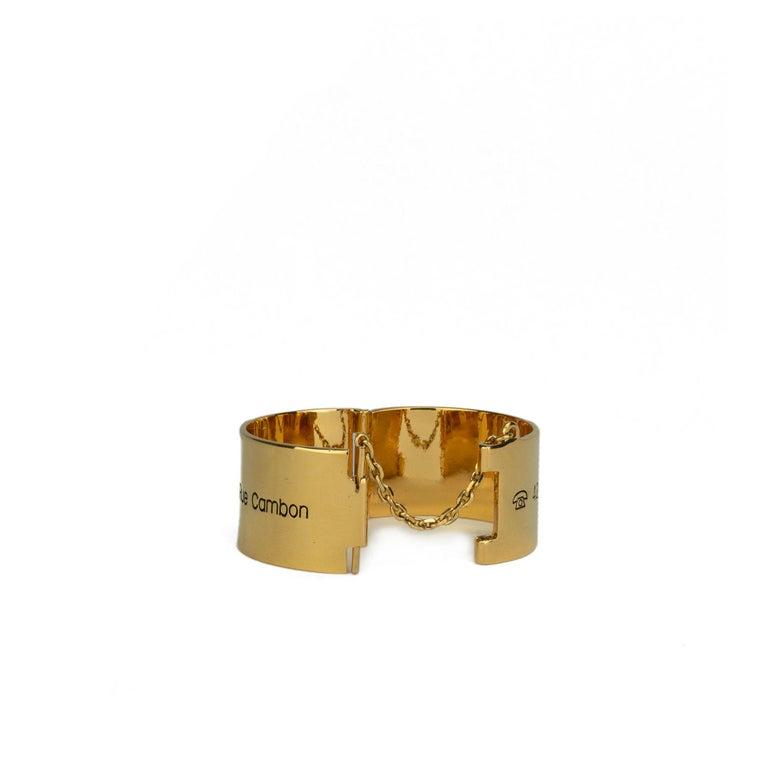 Women's Chanel 31 Rue Cambon Cuff Bracelet For Sale