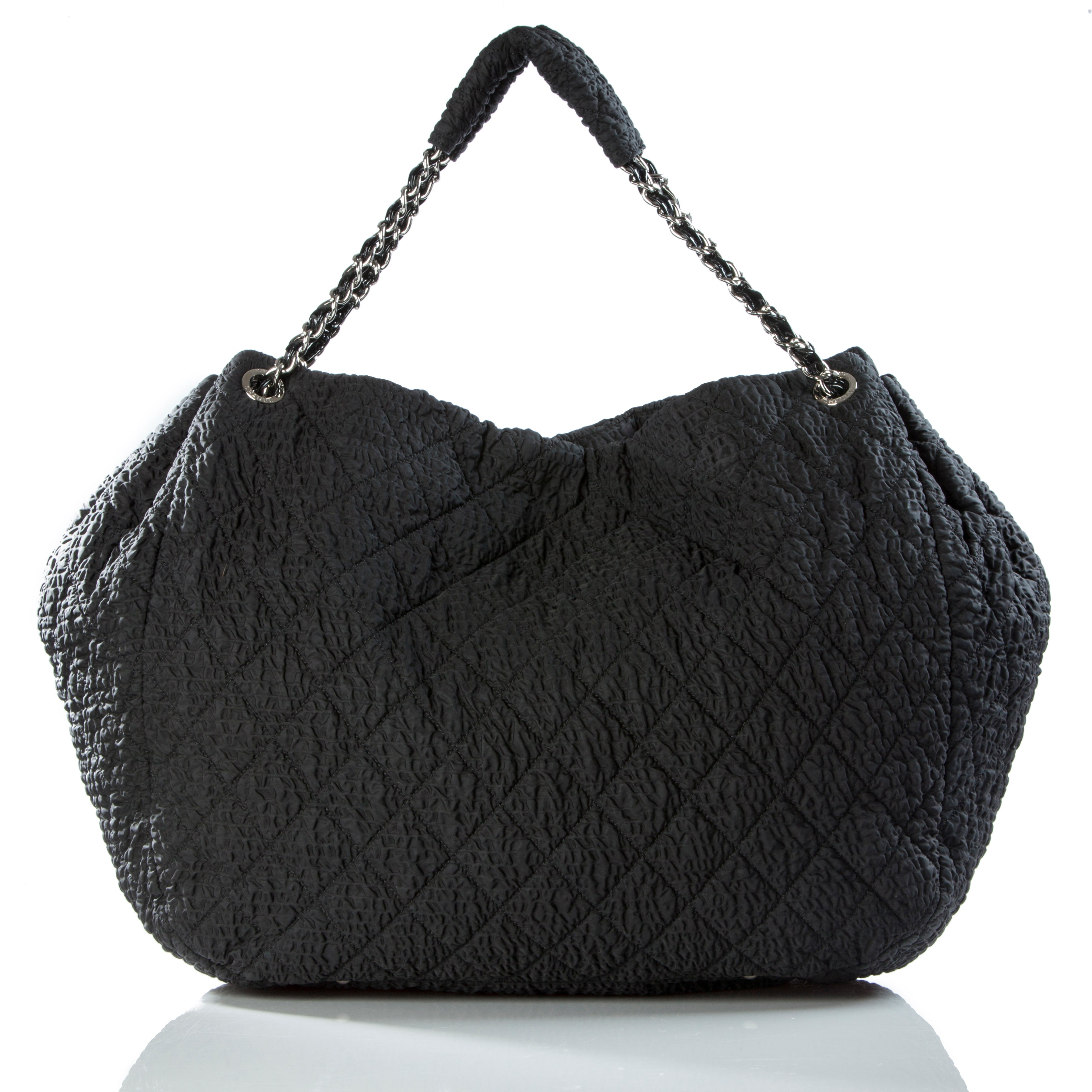 384699f3d975ec Chanel Coco Cabas Cabas Overnight Tote Black Microfiber Nylon Weekend Bag  For Sale at 1stdibs