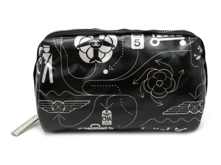 Chanel Airline Make Up Vanity Pouch O-Case  Comes brand new in box with serial card and dust bag.   Made in Italy  Measurements: 3.95