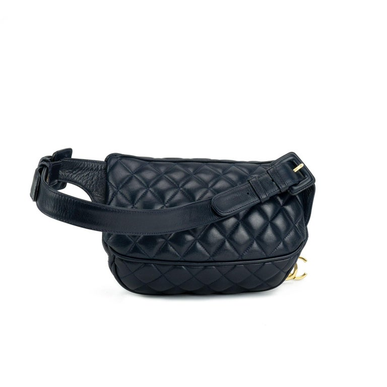 a82da7468be5 Chanel Quilted Lambskin Vintage Fanny Pack Waist Belt Bum Bag, 1990s For  Sale 1