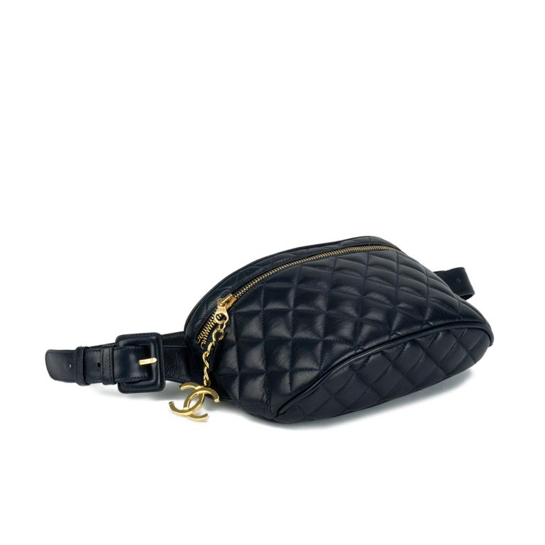 ea938601231d Chanel Quilted Lambskin Vintage Fanny Pack Waist Belt Bum Bag, 1990s In  Good Condition For