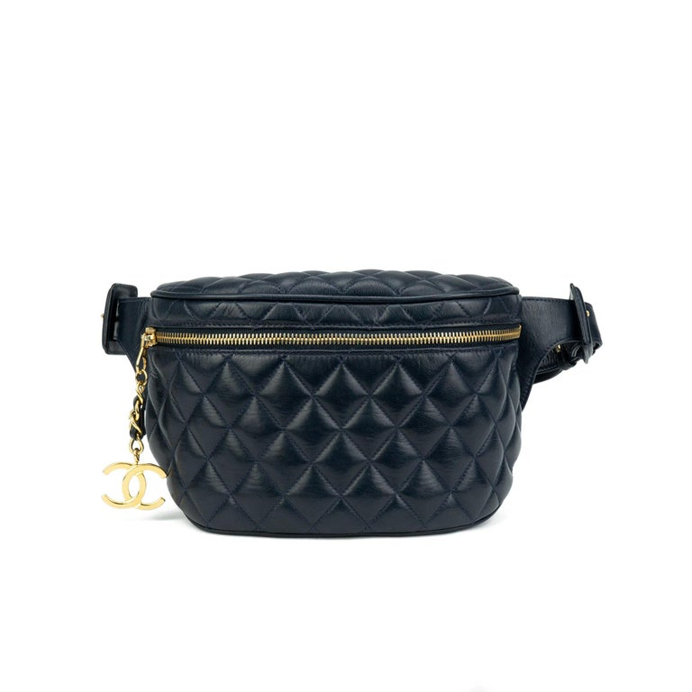 a8b6887259ef Chanel vintage quilted leather fanny pack features gold hardware. 1998  {vintage 20 Years}. Black Chanel Quilted Lambskin Vintage Fanny Pack Waist  Belt ...