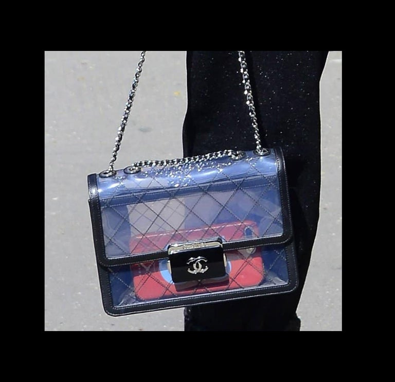 4343bf125765 Chanel Classic Flap Naked Beauty Lock Clear Transparent PVC Crossbody Bag  For Sale 5