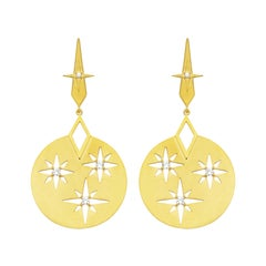 Zoe and Morgan Gold White Zircon Zenith Earrings