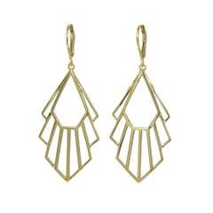 Zoe and Morgan Gold Flossie Earrings
