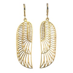 Zoe and Morgan Gold Wing Earrings
