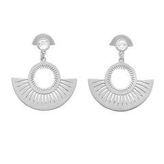 Zoe and Morgan Silver Pocket Full of Sunshine White Zircon Earrings